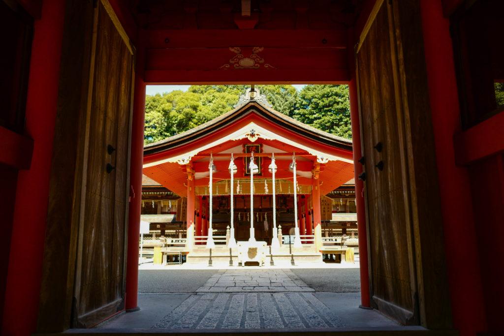 住吉神社、拝殿©2019 仰木一弘 wih LeicaQ