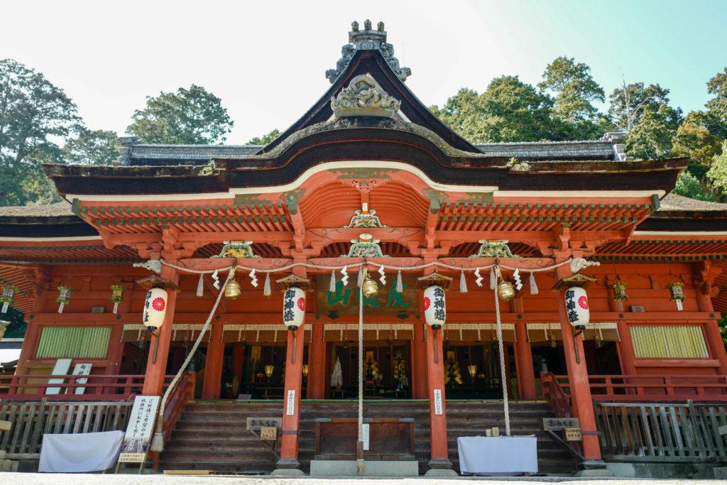 吉備津神社、拝殿©2019 仰木一弘 wih LeicaQ