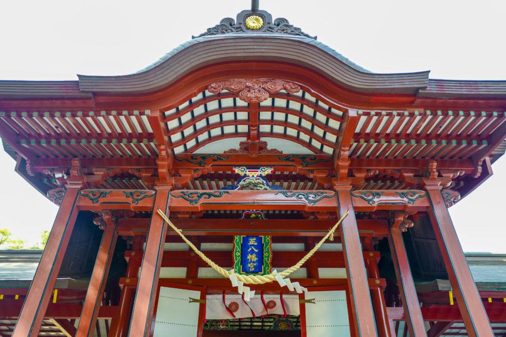 鹿児島神宮、拝殿©2019 仰木一弘 wih LeicaQ